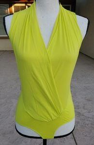 Bebe sleeveless wrap bodysuit NWT